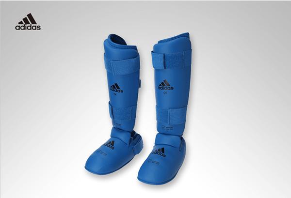 Protetor de Canela e Peito do Pé Adidas Oficial WKF Azul