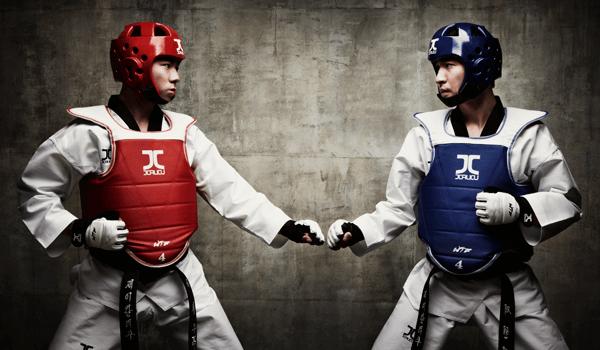 Protetor de Tórax Colete Jcalicu Dupla Face Taekwondo