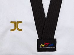 Dobok Kimono Taekwondo Jcalicu VORTEX FIGHTER II Gola Preta