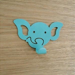 Suporte De Parede Gancho Elefantinho Verde