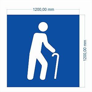 Stencil Molde Vazado Símbolo Idoso