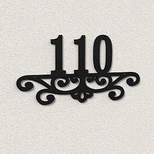 Placa com Números Para Casa Estilo Colonial