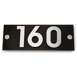 Kit Placa de Acrílico com 3 Números de Inox
