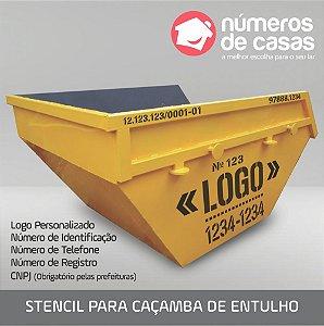 Stencil para Caçamba de Entulho (transentulho)