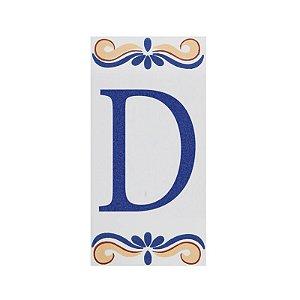 """Letra """"D"""" de Cerâmica"""