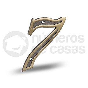 """Número """"7"""" Dourado 12,5cm"""