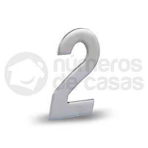 """Número """"2"""" Acetinado Liso 12,5cm"""