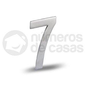 """Número """"7"""" Acetinado Liso 12,5cm"""