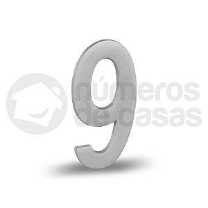 """Número """"9"""" Acetinado Liso 12,5cm"""