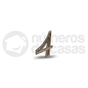 """Número """"4"""" Dourado 4,0cm"""