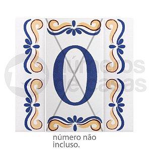 Borda Número de Cerâmica 2 Peças