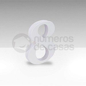 "Número ""8"" Branco Sintético"