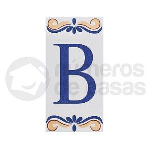 """Letra """"B"""" de Cerâmica"""