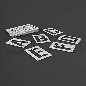 Alfabeto Stencil Pacote A ao Z