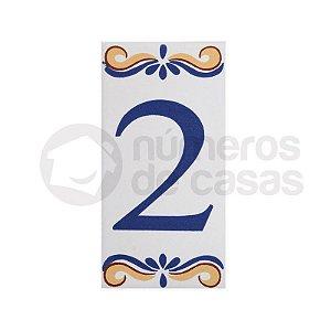 """Número """"2"""" de Cerâmica"""