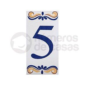 """Número """"5"""" de Cerâmica"""