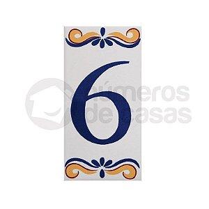 """Número """"6"""" de Cerâmica"""