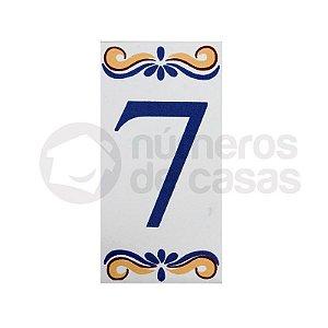 """Número """"7"""" de Cerâmica"""