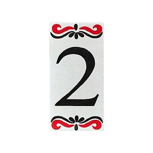 """Número """"2"""" de Cerâmica Espanha"""