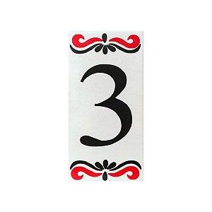 """Número """"3"""" de Cerâmica Espanha"""