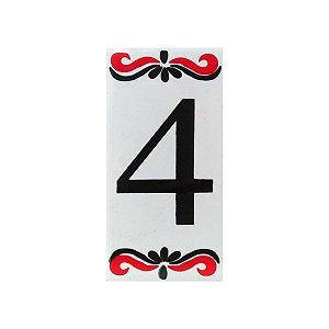 """Número """"4"""" de Cerâmica Espanha"""