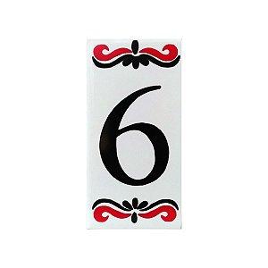 """Número """"6"""" de Cerâmica Espanha"""