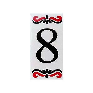"""Número """"8"""" de Cerâmica Espanha"""