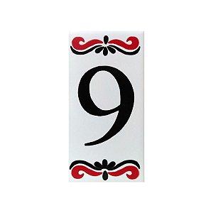 """Número """"9"""" de Cerâmica Espanha"""
