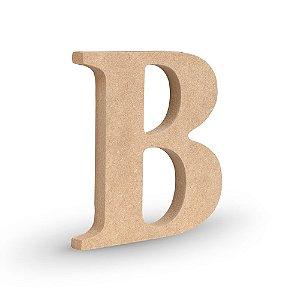 """Letra """"B"""" de MDF Crú 16cm"""