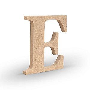 """Letra """"E"""" de MDF Crú 16cm"""