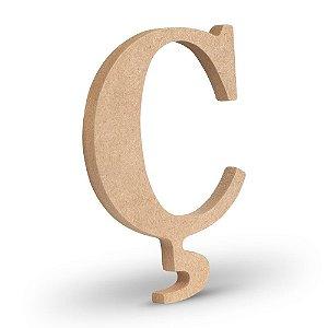 """Letra """"Ç"""" de MDF Crú 16cm"""