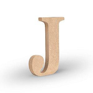 "Letra ""J"" de MDF Crú 16cm"