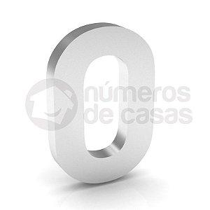 """Número """"0"""" de Inox Polido 304 18x2cm"""