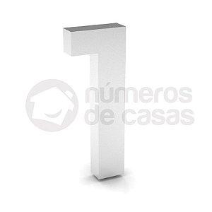 """Número """"1"""" de Inox Polido 304 18x2cm"""