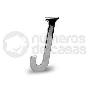 """Letra """"J"""" Cromado Liso 12,5cm"""