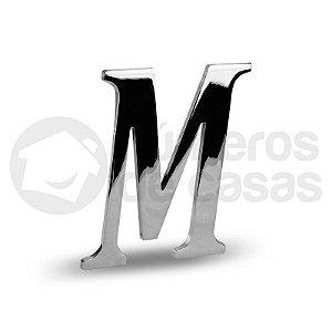 "Letra ""M"" Cromado Liso 12,5cm"