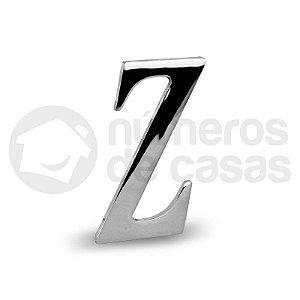 "Letra ""Z"" Cromado Liso 12,5cm"