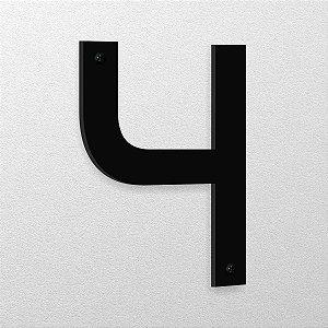 Número 4 de Aço 15cm de Altura