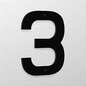 Número 3 de Aço 15cm de Altura