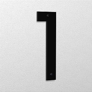 Número 1 de Aço 15cm de Altura