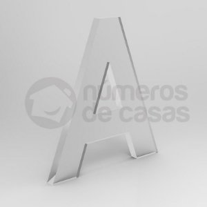 """Letra """"A"""" de Acrílico 20cm"""