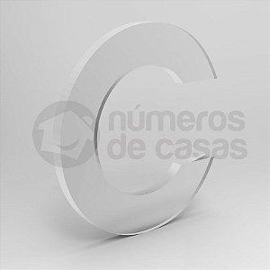 """Letra """"C"""" de Acrílico 20cm"""