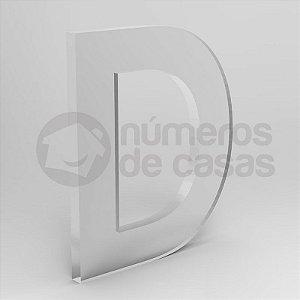 """Letra """"D"""" de Acrílico 20cm"""