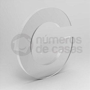 "Letra ""G"" de Acrílico 20cm"