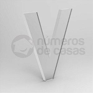 """Letra """"V"""" de Acrílico 20cm"""