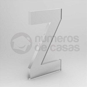 """Letra """"Z"""" de Acrílico 20cm"""