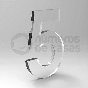 """Número """"5"""" de Acrílico 20cm"""
