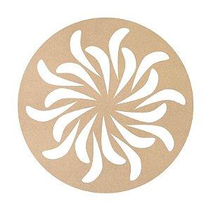 Mandala em Mdf Crú 50cm ACC006