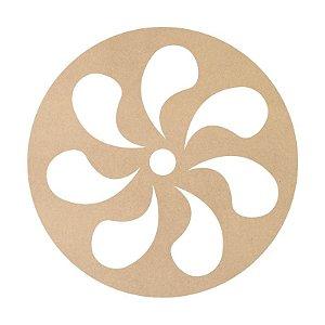 Mandala em Mdf Crú  50cm ACC008