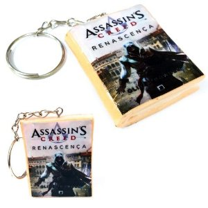 Chaveiro Assassins Creed - Renascença Mini Livro